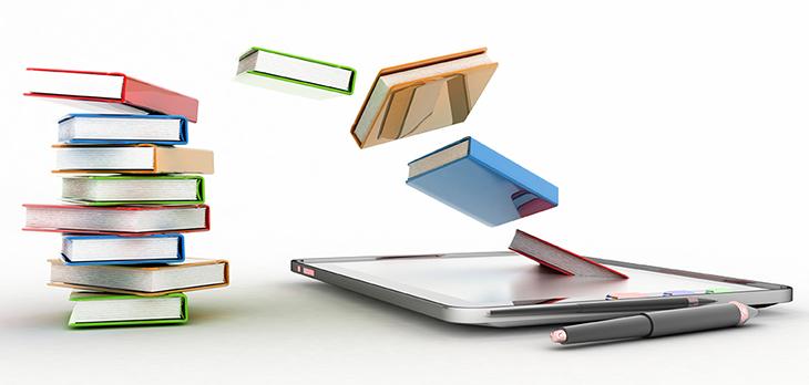 書籍が電子化するイメージ